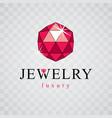elegant sparkling gem faceted gemstone sign vector image vector image