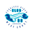 emblem longboard club vector image vector image