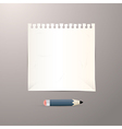 Empty White Paper Sheet with Pencil vector image