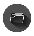 file folder icon in flat style documents archive vector image vector image