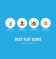 flat icon mosque set of traditional religion vector image
