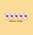 flat icon on stylish background royal flush vector image vector image