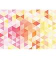 Flat orange mosaic background vector image vector image