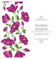 floral seamless background flower bouquet border vector image vector image