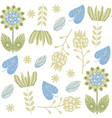 floral seamless green gentle elegance pattern it vector image