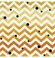 Gold Chevron seamless pattern Zigzag lines and vector image vector image