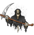 grim reaper cartoon character holding a death scyt vector image
