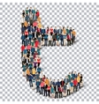 group people shape letter T Transparency vector image vector image