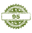 grunge textured 95 stamp seal vector image vector image