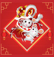 happy chinese new year 2020 year mouse vector image vector image