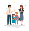 happy family father mother and children vector image