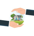 house insurance concept isolated on background vector image vector image
