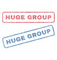 huge group textile stamps vector image vector image