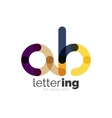 Linear business logo letter vector image
