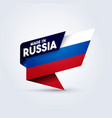 made in russia flag vector image