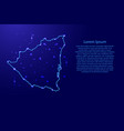map nicaragua from the contours network blue vector image vector image