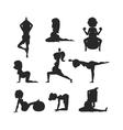 Meditating on yoga pregnant woman character vector image