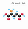 molecular omposition and structure of glutamic vector image vector image