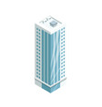 multi-storey building with glass facade icon vector image