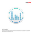 music sound wave icon - white circle button vector image vector image
