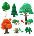 nature cartoon elements game ui collection of vector image vector image