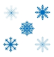 Openwork Christmas snowflakes in format vector image vector image
