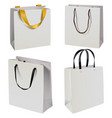 paper bag icons vector image vector image