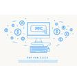 pay per click concept thin line design vector image vector image