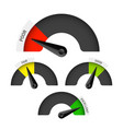 poor fair good and excellent colorful gauge vector image vector image