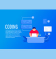 programmer and development vector image
