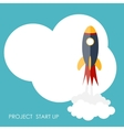 Quick Start Up Flat Concept vector image vector image