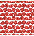 raspberry berries seamless pattern vector image