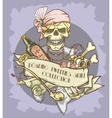 Roaring Twenties Skull label vector image vector image