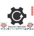 Rotate Gear Flat Icon With 2017 Bonus Trend