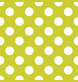 seamless pattern with white polka dots on a green vector image
