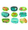 set color discount emblems off summer sale advert vector image vector image