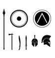 set of ancient greek spartan weapon and vector image vector image