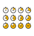 set timer and stopwatch icons timer icon vector image vector image