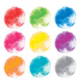 set watercolor backgrounds abstract splashes vector image