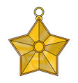 star ornament icon image vector image vector image