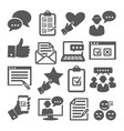 survey icons set on white background vector image vector image