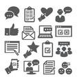 survey icons set on white background vector image