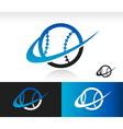 Swoosh Baseball Logo Icon vector image vector image