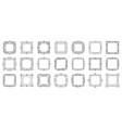 text frame monogram decor design banner set vector image vector image