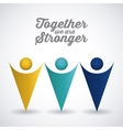 together concept design vector image