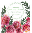 vintage roses background floral card retro vector image