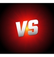 VS Letters Competition Icon vector image vector image