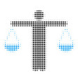 weight comparing person halftone icon vector image
