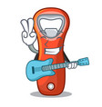 with guitar plastic bottle opener isolated on vector image vector image