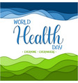 world health day text vector image vector image